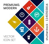 modern  simple vector icon set... | Shutterstock .eps vector #1140503816