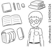 vector set of student and... | Shutterstock .eps vector #1140504326