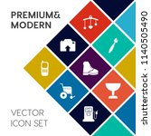 modern  simple vector icon set... | Shutterstock .eps vector #1140505490