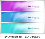 website header or banner set.... | Shutterstock .eps vector #114050698