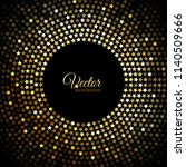 vector gold disco lights frame... | Shutterstock .eps vector #1140509666