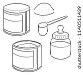 vector set of milk powder | Shutterstock .eps vector #1140511439