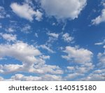 blue sky with clouds useful as... | Shutterstock . vector #1140515180