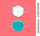 medical mask vector icon ... | Shutterstock .eps vector #1140518186