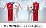 soccer jersey and t shirt sport ... | Shutterstock .eps vector #1140518393