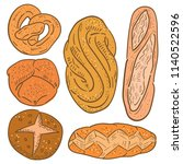 hand drawn illustration of... | Shutterstock .eps vector #1140522596