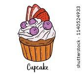 hand drawn illustration of... | Shutterstock .eps vector #1140524933