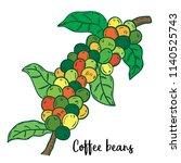 hand drawn illustration of... | Shutterstock .eps vector #1140525743