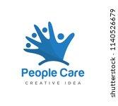 people care creative logo... | Shutterstock .eps vector #1140526679