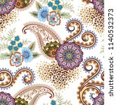 seamless  pattern with ornate... | Shutterstock .eps vector #1140532373