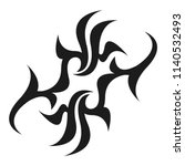 graphic tattoo design. stencil. ...   Shutterstock .eps vector #1140532493
