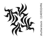 graphic tattoo design. stencil. ... | Shutterstock .eps vector #1140532496