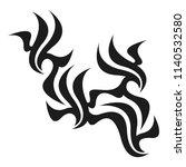 graphic tattoo design. stencil. ... | Shutterstock .eps vector #1140532580