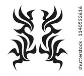 graphic tattoo design. stencil. ... | Shutterstock .eps vector #1140532616