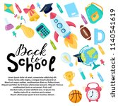 hand drawn flyers template for... | Shutterstock .eps vector #1140541619