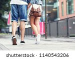 portrait of happy couple with...   Shutterstock . vector #1140543206