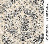floral texture repeat modern... | Shutterstock . vector #1140550319
