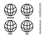 top level internet domain icons ... | Shutterstock .eps vector #1140562103