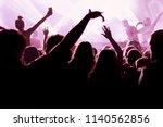 hands of crowd | Shutterstock . vector #1140562856