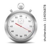stopwatch  vector eps10... | Shutterstock .eps vector #114056878