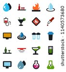 color and black flat icon set   ... | Shutterstock .eps vector #1140573680