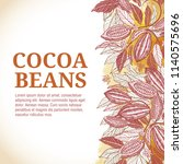 cacao beans plant  vector... | Shutterstock .eps vector #1140575696