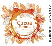 cacao beans plant  vector... | Shutterstock .eps vector #1140575699