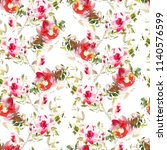 seamless summer pattern with... | Shutterstock . vector #1140576599