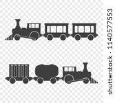 icon of locomotives with... | Shutterstock . vector #1140577553