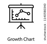 a board having line graph... | Shutterstock .eps vector #1140580340