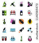 color and black flat icon set   ... | Shutterstock .eps vector #1140585473