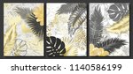 luxury cards collection with... | Shutterstock .eps vector #1140586199