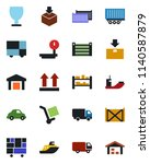 color and black flat icon set   ... | Shutterstock .eps vector #1140587879