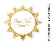 vector illustratio of gold sun... | Shutterstock .eps vector #1140590810