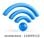 wifi 3d icon | Shutterstock . vector #114059113