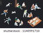 people park festival picnic  ... | Shutterstock .eps vector #1140591710