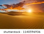 beautiful sand dunes in the... | Shutterstock . vector #1140596936