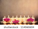 Row Of Aromatic Candles And...