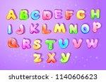 colorful kids english alphabet ... | Shutterstock . vector #1140606623