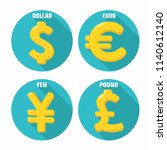 vector currency currency icons. ... | Shutterstock .eps vector #1140612140