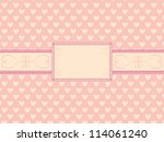 day of  valentine background... | Shutterstock . vector #114061240