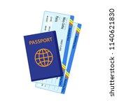 Passport With Tickets. Air...