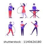 musicians and singer set... | Shutterstock .eps vector #1140626180