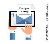 the businessman sends  receives ... | Shutterstock .eps vector #1140626633