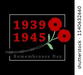 day of remembrance and... | Shutterstock .eps vector #1140632660