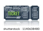 cinema ticket sample template...   Shutterstock .eps vector #1140638480