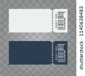 vector ticket template design.... | Shutterstock .eps vector #1140638483
