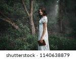 female victim in white dress... | Shutterstock . vector #1140638879