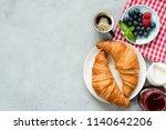 continental breakfast... | Shutterstock . vector #1140642206