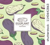 background with eggplant  full... | Shutterstock .eps vector #1140642863